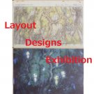 1 left - 2 Postcards - Layout Designs Exhibition - Mononoke - Ghibli - no production (new)