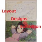 1 left - 2 Postcards - Layout Designs Exhibition - Kiki's Delivery Service - no production (new)