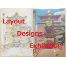1 left - 2 Post Cards - Layout Designs Exhibition -Spirited Away - no production (new)