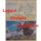 1 left - 2 Postcards - Layout Designs Exhibition - Howl's Moving Castle - no production (new)