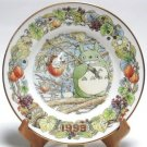 1 left - Yearly Plate 1999 - Wooden Stand - Noritake - made in Japan - Totoro - no production (used)