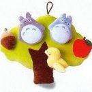 2 left - Baby Toy - 5 Mascot & Tree - Velcro - Totoro - Sun Arrow - Ghibli - no production (new)