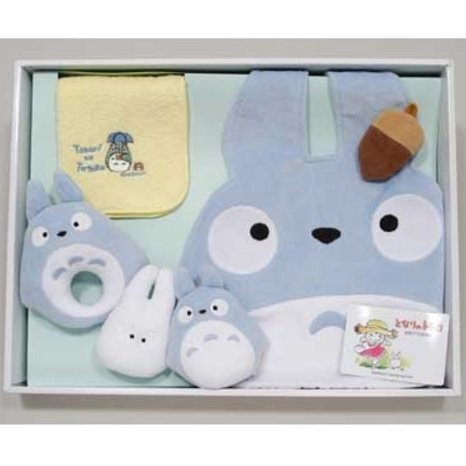 Baby Gift Set - 6 items - Chu Totoro Baby Bid & Rattle & Towel - Ghibli - Sun Arrow (new)