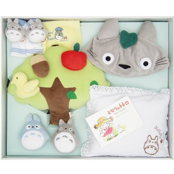 Baby Gift Set -6 items- Tree & Cap & Socks & Pillow & Towel - Totoro -Sun Arrow- no production (new)