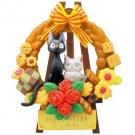 Figure - Jigsaw Puzzle 35 Piece- Kumukumu- Jiji & Lily - Kiki's Delivery Service - Ensky -2013 (new)