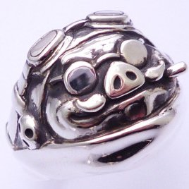 Ring #24 - Sterling Silver 925 - Original Studio Ghibli Box - made in Japan - Cominica - Porco (new)
