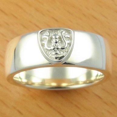Ring #14 - Sterling Silver 925 -Crest White- made Japan -Original Ghibli Box- Cominica - Laputa (new)