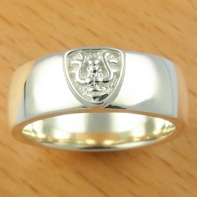 Ring #13 - Sterling Silver 925 -Crest White- made Japan -Original Ghibli Box- Cominica - Laputa (new)