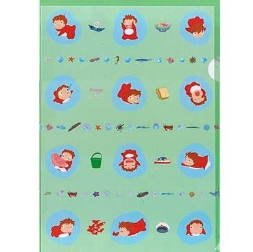 1 left - Clear File A4 - W22xH31cm - Ponyo - Ghibli - 2009 - out of production (new)