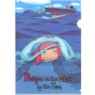1 left - 3D Clear File - Ponyo - Ghibli - 2008 - out of production (new)