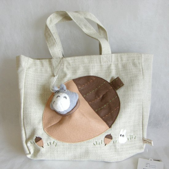 1 left - Tote Bag & Mascot - Chain Strap - Totoro - Ghibli - Sun Arrow - 2009 - no production (new)