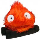 1 left - Calcifer on Log (L) - W37cm - Plush Doll -red- Howl's Moving Castle - no production (new)