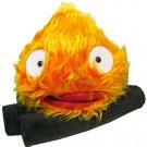 1 left - Calcifer on Log (L) -W37cm- Plush Doll -orange- Howl's Moving Castle - no production (new)