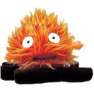 5 left- Calcifer Log (M)- Plush Doll -Orange- Howl's Moving Castle - Sun Arrow - no production (new)
