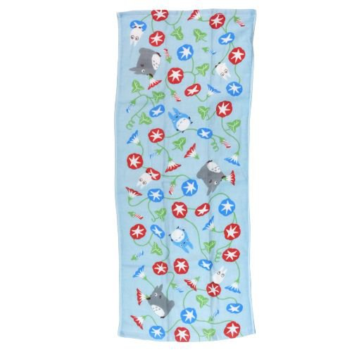 Face Towel - 34x80cm -morning glory- made Japan - Imabari - Totoro - 2014 - no production (new)