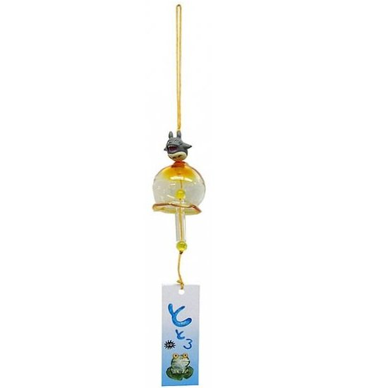 1 left - Mini Wind Chime - Glass - Howling Totoro - Ghibli - 2010 - out of production (new)