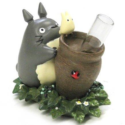Small Vase - 1 Glass Tube - Ladybug - Totoro & Sho Totoro - Ghibli - 2014 (new)