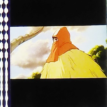 1 left - Movie Film #13 - 6 Frames - Ashitaka - Mononoke - Ghibli (real film)