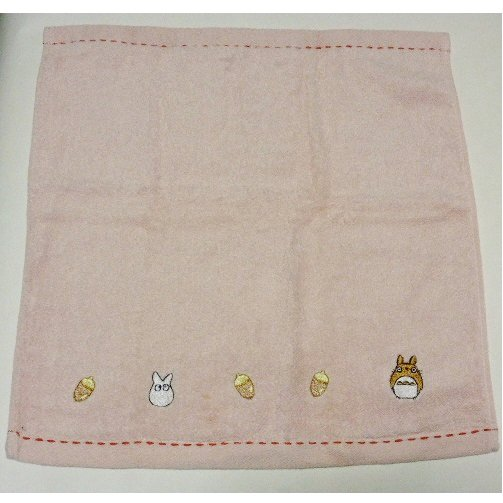 1 left - Hand Towel - Embroidered Acorn - Totoro - no production (new but stain)
