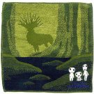Mini Towel - 25x25cm - Jacquard Weaving - Kodama Glows in Dark & Shishigami - Mononoke - 2013 (new)