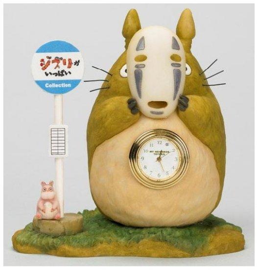 SOLD - Clock - Totoro & Kaonashi & Bounezumi - Limited Edition- Spirited Away -no production (new)