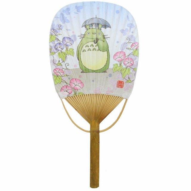 Fan / Uchiwa - Bamboo & Paper - Ensky - Totoro - Ghibli - 2014 (new)