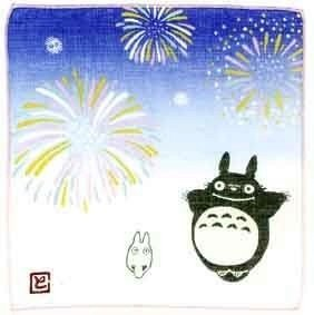 Handkerchief - 21.5x21.5cm - Gauze - summer - made in japan - Totoro - Ghibli(new)
