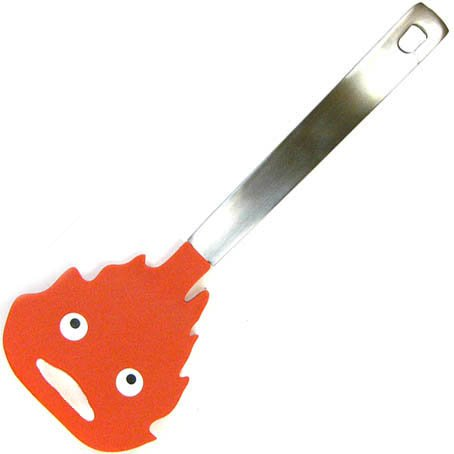 Calcifer Spatula - Stainless Steel & Nylon- Howl's Moving Castle - Ghibli -2013- no production (new)
