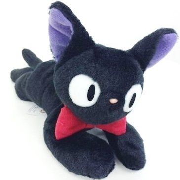 Fluffy Plush Doll (M) - 24cm - Jiji - Kiki's Delivery Service - Ghibli - Sun Arrow - 2014 (new)