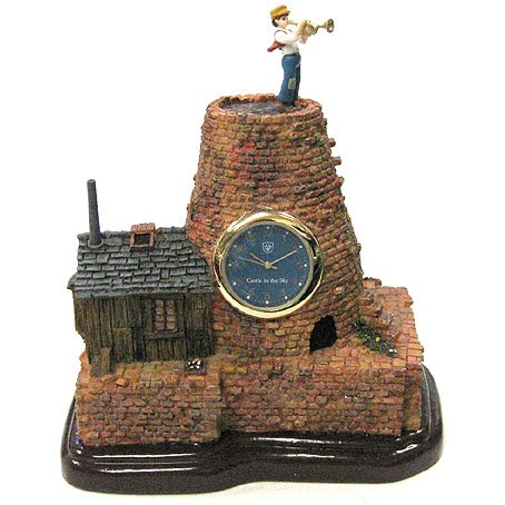 Clock - Diorama - Quartz - Pazu & House - Laputa - 2014 (new)