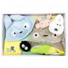 Baby Gift Set - 7 items - Cap & Bib & Towel & Rattle - Totoro - Sun Arrow - 2014 (new)