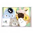 Baby Gift Set - 7 items - Bib & Towel & Rattle & Whistle - Nekobus - Totoro - Sun Arrow - 2014 (new)