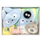 Baby Gift Set - 6 items - Cap & Bib & Towel & Rattle - Totoro - Sun Arrow - 2014 (new)