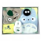 Baby Gift Set - 5 items - Cap & Bib & Rattle & Towel - Totoro - Sun Arrow - 2014 (new)