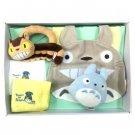 Baby Gift Set - 5 items - Bib & Rattle & Whistle & Towel - Nekobus - Totoro - Sun Arrow - 2014 (new)