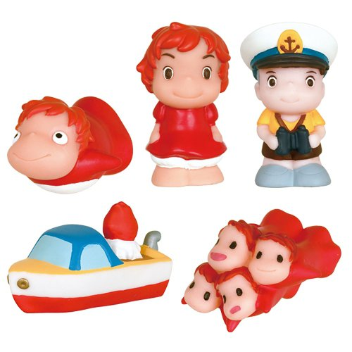 30% OFF - 5 Finger Doll - Ponyo Fish & Girl & Sousuke & Ponponsen & Sisters - Ghibli - 2014 (new)