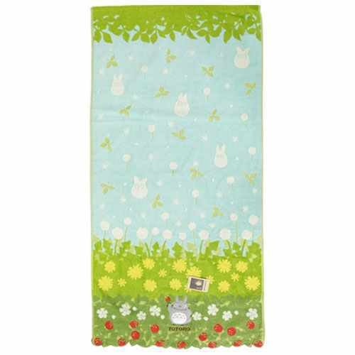 Bath Towel - 60x120cm - Jacquard Weaving - Applique & Embroidery - Totoro - Ghibli - 2015 (new)