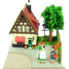 Mini Papercraft Kit - Laser Sheet - Kiki & Osono & Bakery - Kiki's Delivery Service - 2014 (new)