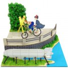 Mini Miniatuart Kit - Paper Craft - Kiki & Tombo & Bicycle - Kiki's Delivery Service - 2014 (new)