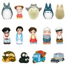 30%OFF- 14 Finger Doll - Totoro + Chu + Sho + Nekobus + Kurosuke + Mei + Satsuki + Bus -2010 (new)