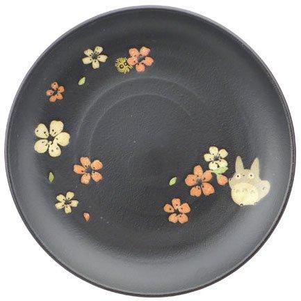 Plate - 18cm - Porcelain - Mino Yaki - made in Japan - Totoro & Sakura - Ghibli - 2015 (new)