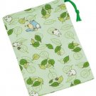 Mini Kinchaku Bag - leaf - made in Japan - Totoro - Ghibli - 2015 (new)