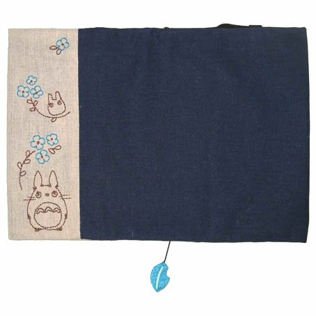 Book Cover - Hemp Cloth - Embroidered - Leaf Mascot - Totoro - Ghibli - 2015 (new)