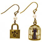 Pierced Earrings - Zinc Alloy - Cage & Lock - antique gold - Kiki's Delivery Service - 2015 (new)