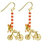 Pierced Earrings - Zinc Alloy & Glass - Tombo's Bicycle - Kiki's Delivery Service - 2015 (new)
