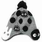 Hat - Kids - Jacquard Weaving Knit - Boa Applique - Kurosuke & Sho Totoro - Ghibli - 2015 (new)