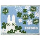 Bath Towel Mat - 35x48cm - blue - made in Japan - Sho Totoro & Kurosuke - Ghibli - 2015 (new)