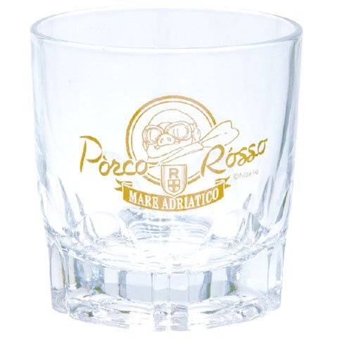 Glass Cup - Rock Glass - Gold Logo - made in Japan - Porco - 2015 - no production (new)