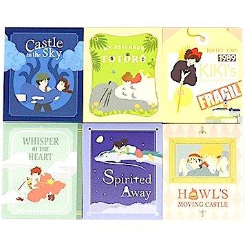 6 Notepad Set - 6 Movies x 80 Page Each - Totoro + Kiki's + Howl's + Laputa - Ghibli - 2015 (new)
