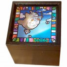 Music Box - Wooden Box Container - Stained Glass Acrylic - Sekiguchi - Totoro - 2015 (new)